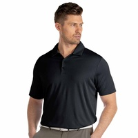 Antigua Bevel Polo - Black