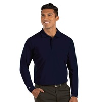 Antigua Tribute Long Sleeve Polo - Navy