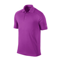 Nike Mens Dri-Fit UV Tech Polo - Red Plum