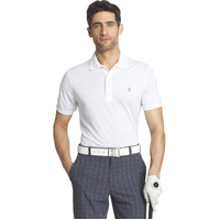 IZOD Solid Grid Polo Bright White