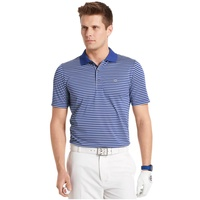 IZOD Feeder Stripe EDI Polo Shirt - Cobalt Blue