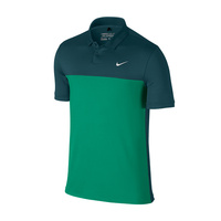 Nike Icon Color Block Polo - Midnight Turq/Teal Charge/White
