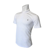 IZOD SS PD Jacquard Polo - Bright White