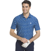 IZOD Space Dye Feed Stripe Polo - Nautiucal Blue
