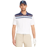 IZOD SS Colourblock Stripe Polo - White