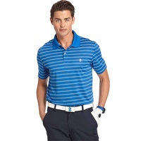 IZOD SS Bump And Run Feeder Stripe Polo - Blue