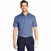 IZOD SS Greenie Stripe Polo - Club Blue