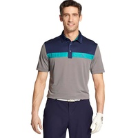 IZOD SS Greenie Colorblock Polo - Asphalt