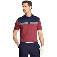 IZOD SS Greenie Colorblock Polo - Purple Potion