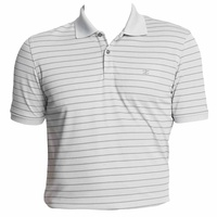 IZOD SS Mesh Textured Stripe Polo - Grey
