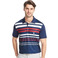 IZOD Engineered Stripe Polo - Blue