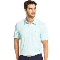 IZOD Greenie Stripe Polo - White Blue