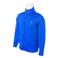 IZOD Long Game Knit Jacket - Strong Blue