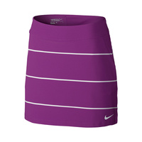 Nike Ladies Tournament Knit Stripe Skort - Cosmic Purple