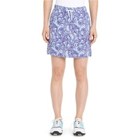 IZOD Ladies Woven Printed Pull on Skort - Clematis Blue