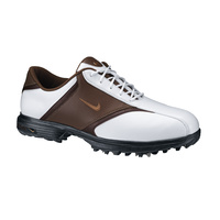 Nike Heritage II Mens Golf Shoes - White/Bronze