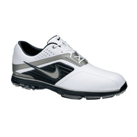Nike Lunar Prevail Mens Golf Shoes - White/MET SILVER- Black (WIDE)