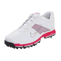 Nike Ladies Lunar Links Shoes - White/Met Silver