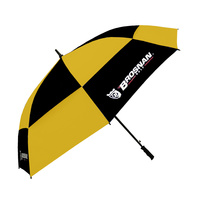 Brosnan Tour Classic Windbuster 68 Inch Umbrella - Black/Yellow
