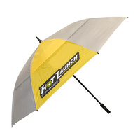 Hot Launch by Tour Edge Solar UV Double Canopy Umbrella 64 Inch