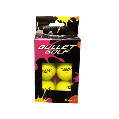 Bullet Golf Balls - 6 Pack Yellow