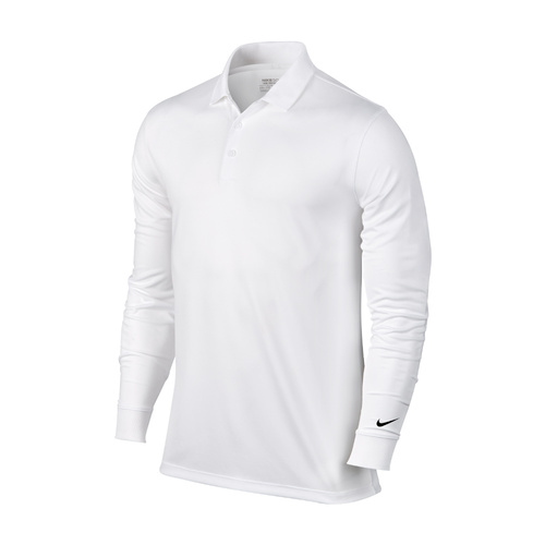 Nike Victory Longsleeve Polo - White [Size: Small]