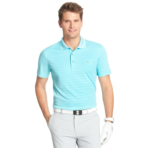IZOD SS PD Jacquard Polo - Blue Radiance [Size: Small]