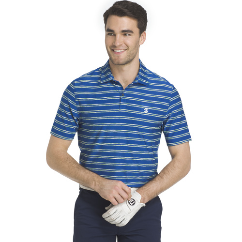 IZOD Space Dye Feed Stripe Polo - Nautiucal Blue [Size: Small]