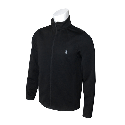 IZOD Long Game Knit Jacket - Black [Size: Small]