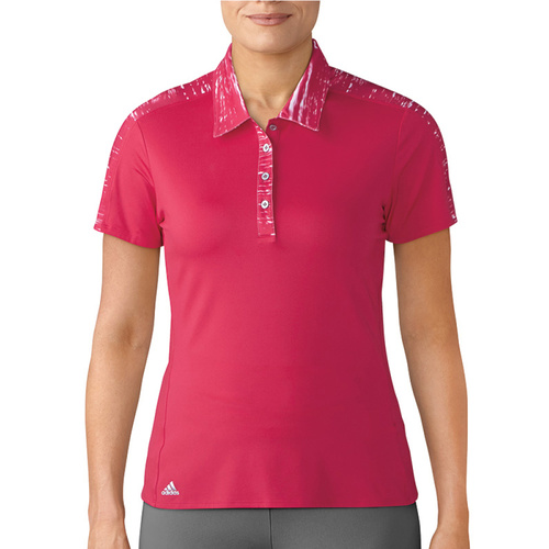 Adidas Short Sleeve Ladies Merch Polo - Energy Pink