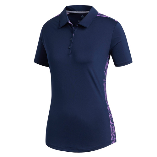 adidas Ladies Ultimate365 Novelty Polo - Indigo [Size:Medium]
