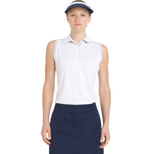 IZOD Sleeveless Heather Ladies Polo - Bright White [Size: Small]